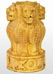 Wooden Ashoka Pen Stand