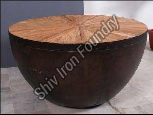 Drum Shaped Coffee Table