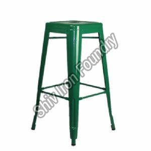 Green Iron Bar Stool