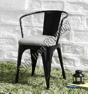 Iron Chair with Fabric Seat