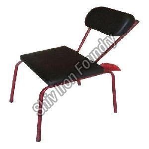Iron Leather Seat Chair
