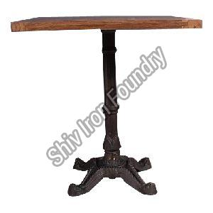 Wood And Iron Cafe Table
