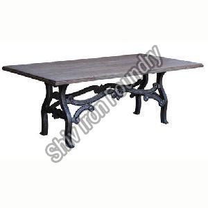 Wood and Iron Center Table