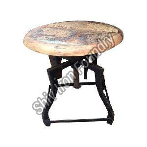 Wood and Iron Stool