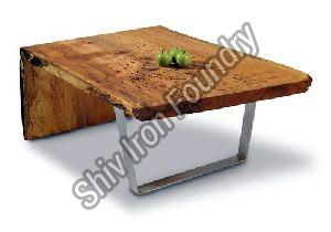 Wooden and Iron Coffee Table