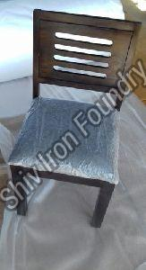 Wooden Chair with Fabric Seat