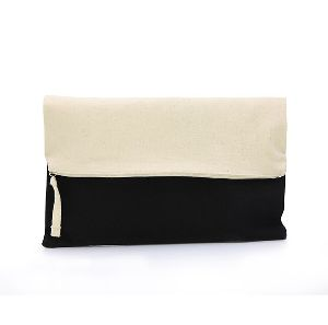 Cotton Canvas Clutch Purse