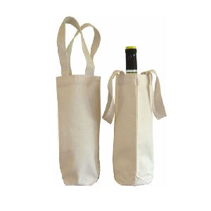 Cotton Canvas Wine Bags