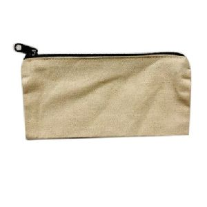 Cotton Canvas Zipper Pouch