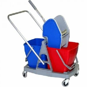 Double Bucket Wringer Trolley