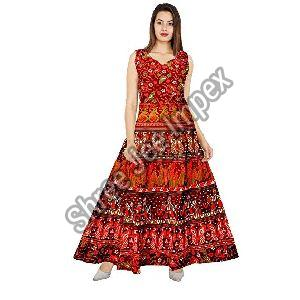 Jaipuri Printed Gown