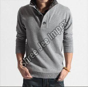 Mens Collar Sweater