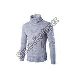 Mens High Neck Sweater