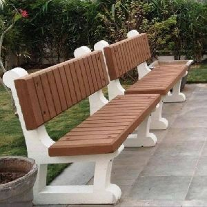 Concrete Bench with Backrest