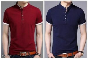 Mens Chinese Collar T-Shirt