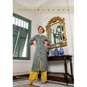 Fancy Palazzo With Kurti