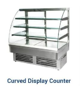 Curved Glass Food Display Counter