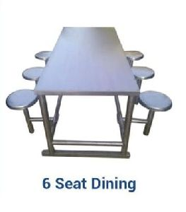 Stainless Steel 6 Seater Dining Table