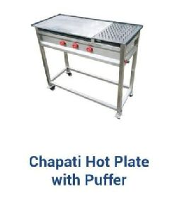 Stainless Steel Chapati Hot Plate Puffer