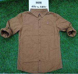 Boys Plain Cotton Shirt