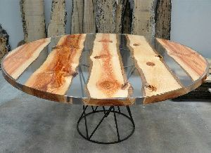 9251 Resin Wood Table