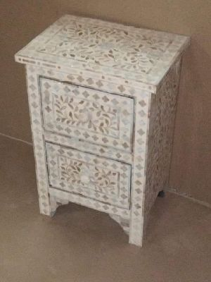 9263 Bone Resin Storage Cabinet