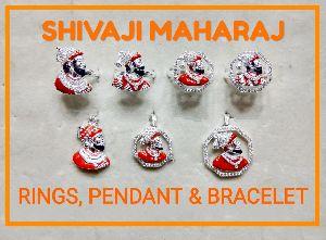 shivaji pendant and rings