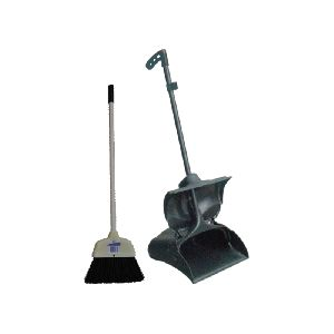 Standing Dustpan and Broom