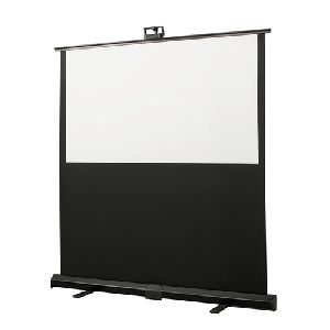 Manual floor projection screens