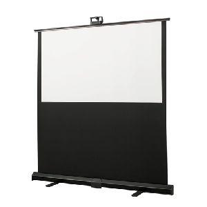 Manual floor projection screens