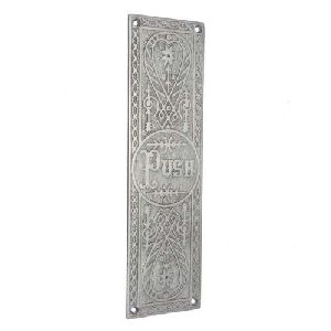 brass door push plate