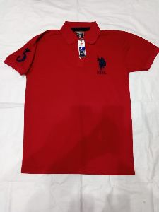 Mens Red Polo T-Shirts
