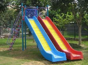 Double Playground Slide