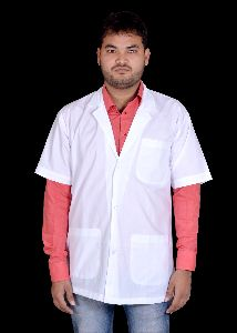 Mens Half Sleeve Lab Coat