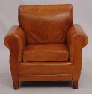 Single Seater Leather Sofa