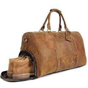 Leather GYM Bag with Shoe Comperment