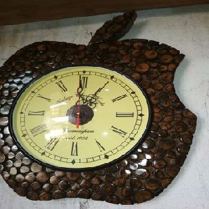 Wooden Apple Shape Wall Clock