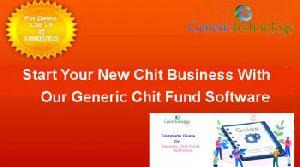 Start Your New Chit Business With Our Generic Chit Fund Software