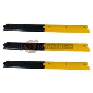 3 Yellow & 3 Black Rubber Rumble Strips