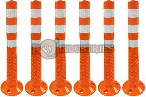 Pack of 6 Road Safety Spring Post
