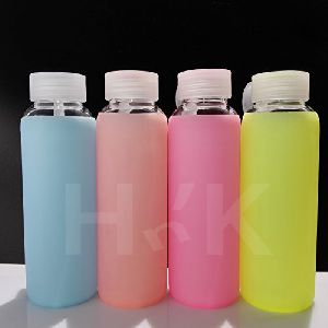 Mini Silicone Glass Water Bottle