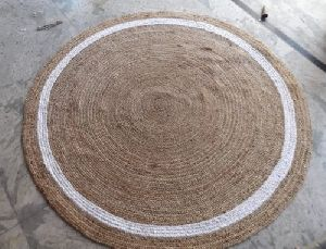 Jute White & Brown Rug