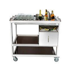 Stainless Steel Bar Trolley