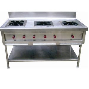 Stainless Steel Triple Burner Cooking Range