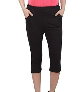 Girls Cotton Plain Capri