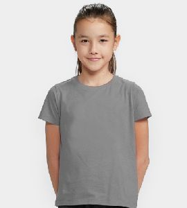 Girls Plain T-Shirts