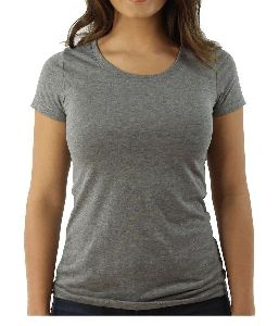 Ladies Round Neck T Shirts