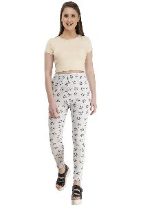 Ladies Woolen Printed Leggings