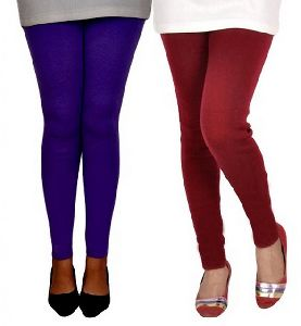 Woolen Solid Leggings