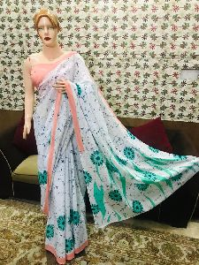 Stylish Hand Block Printed Sarees
